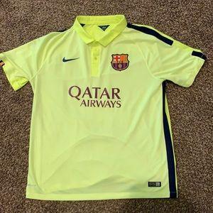 Barcelona soccer Nike polo t shirt